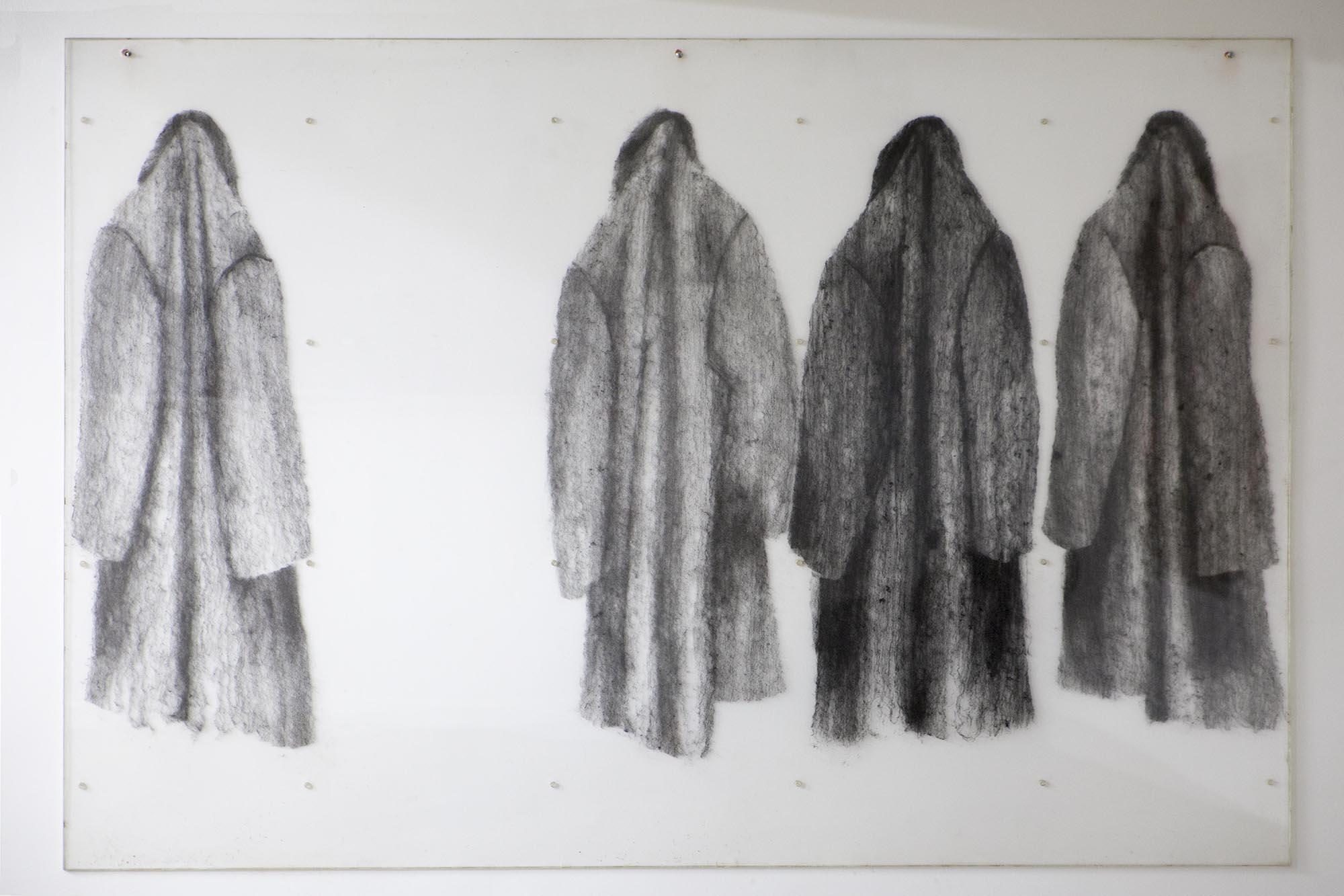 Pavlos, Manteaux, 1971 Jex et Plexi 200 x 150 x 1,8cm