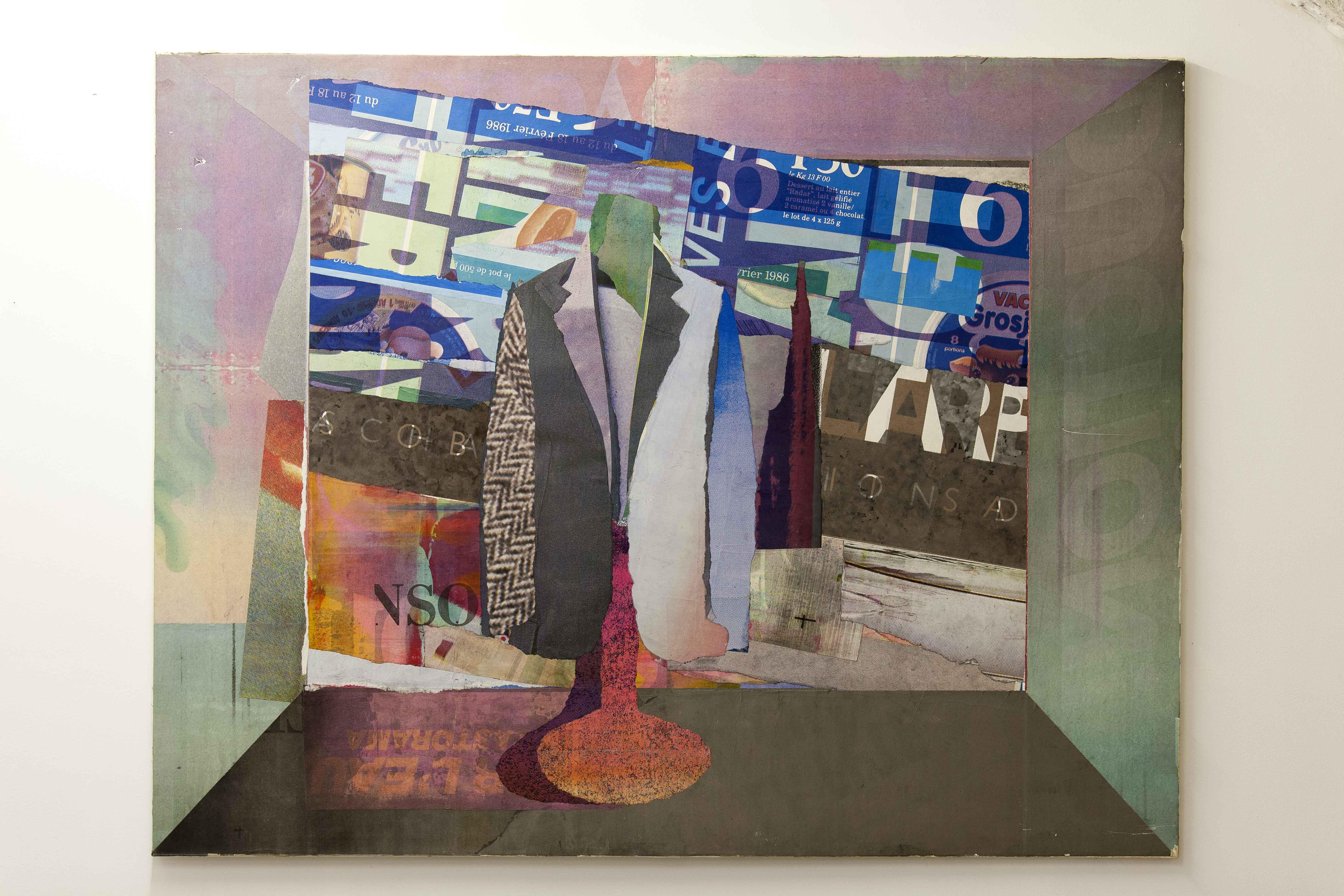 Pavlos, Vitrine, 1986, Collage Papier d'affiches 125 x 160 x 2 cm