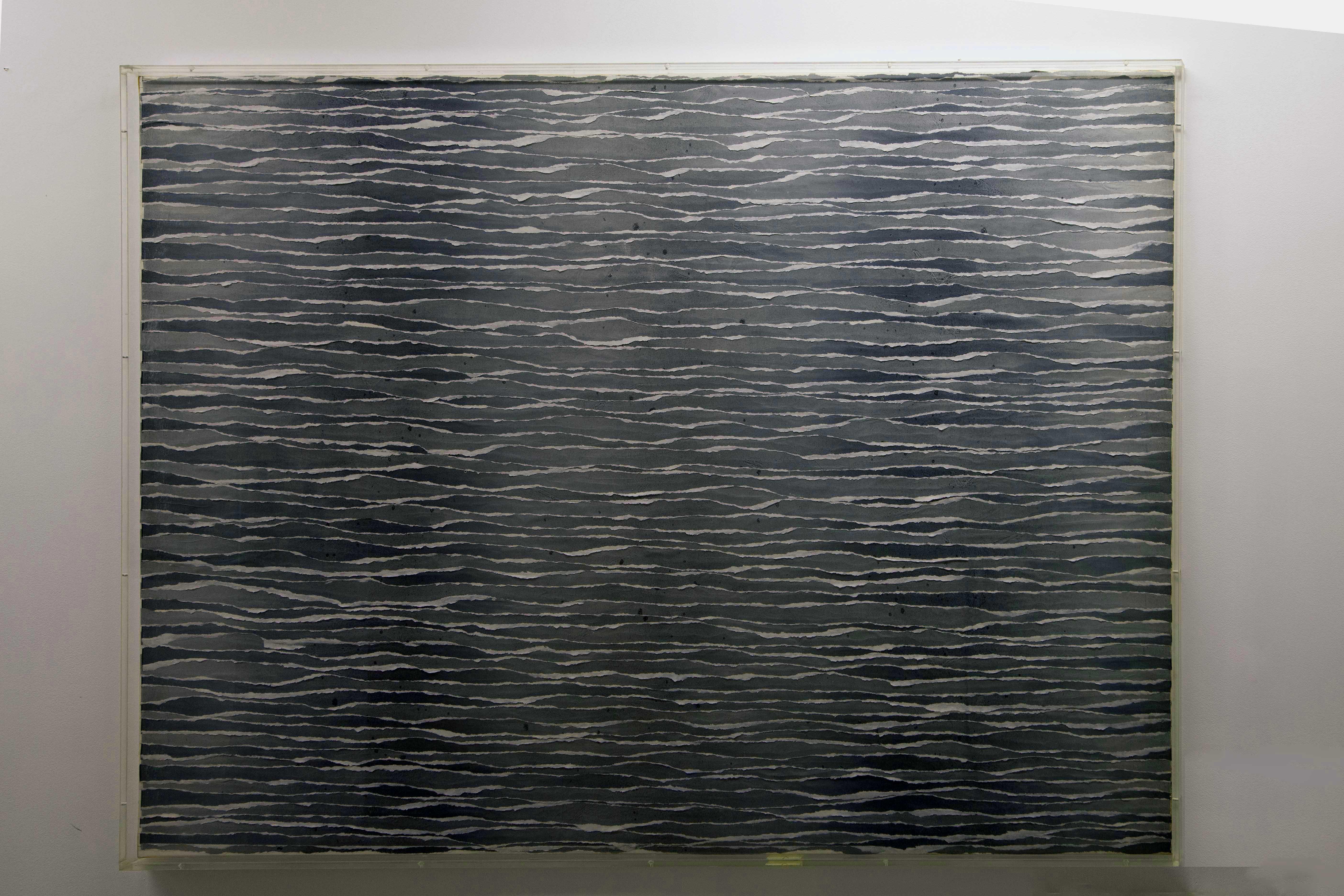 Pavlos, La Mer, 1971 Papiers Déchirés 162 x 116,5 x 4,5cm
