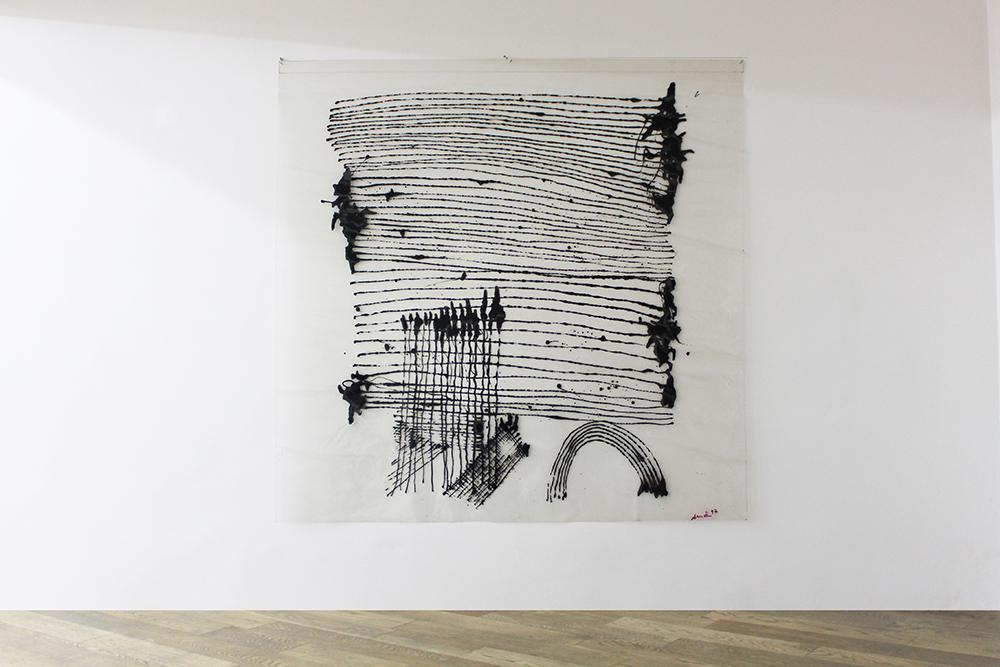 Sans titre, 1997, Acrylique sur vinyle, 150 x 150 cm