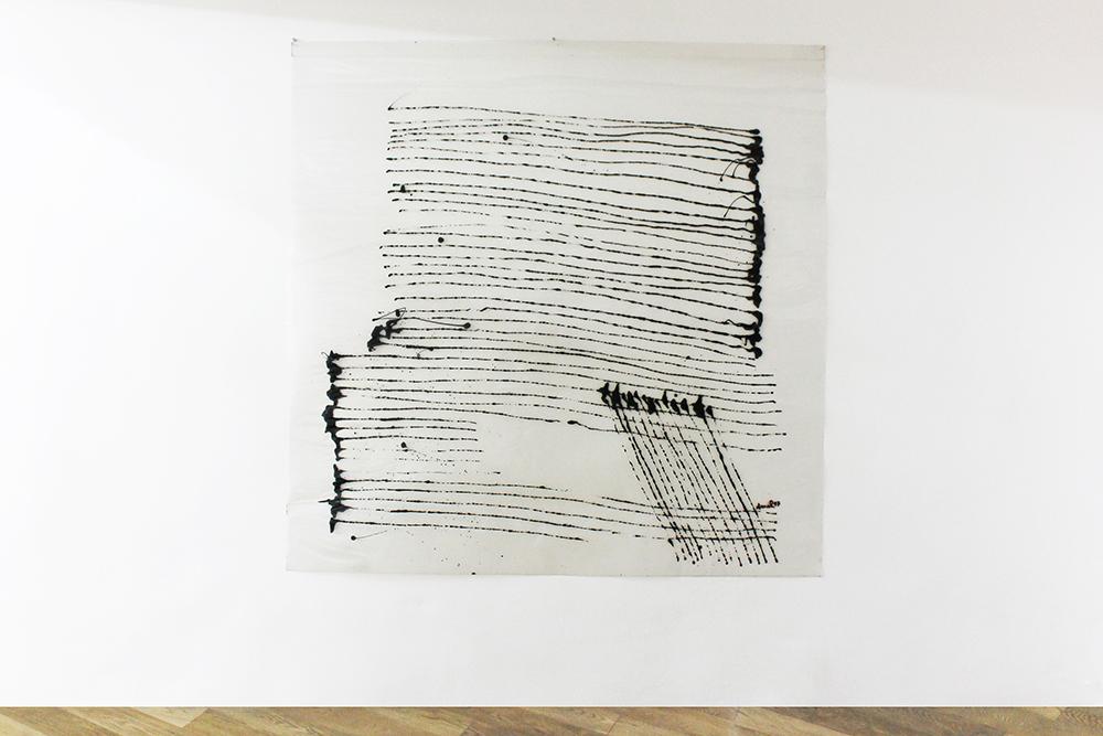 Sans titre, 1997 Acrylique sur vinyle, 150 x 150 cm