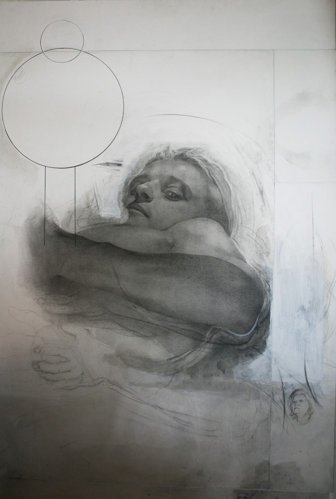 SetP STANIKAS Xavier Dupont de Ligonnès, 2015 mixed media and graphite on paper 156 x 117 cm