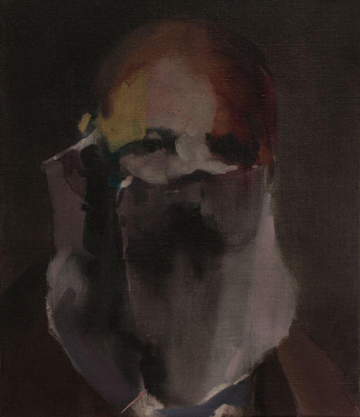 Nacho Martín-Silva The blind painters III, 2015 oil on linen, 41 x 35 cm