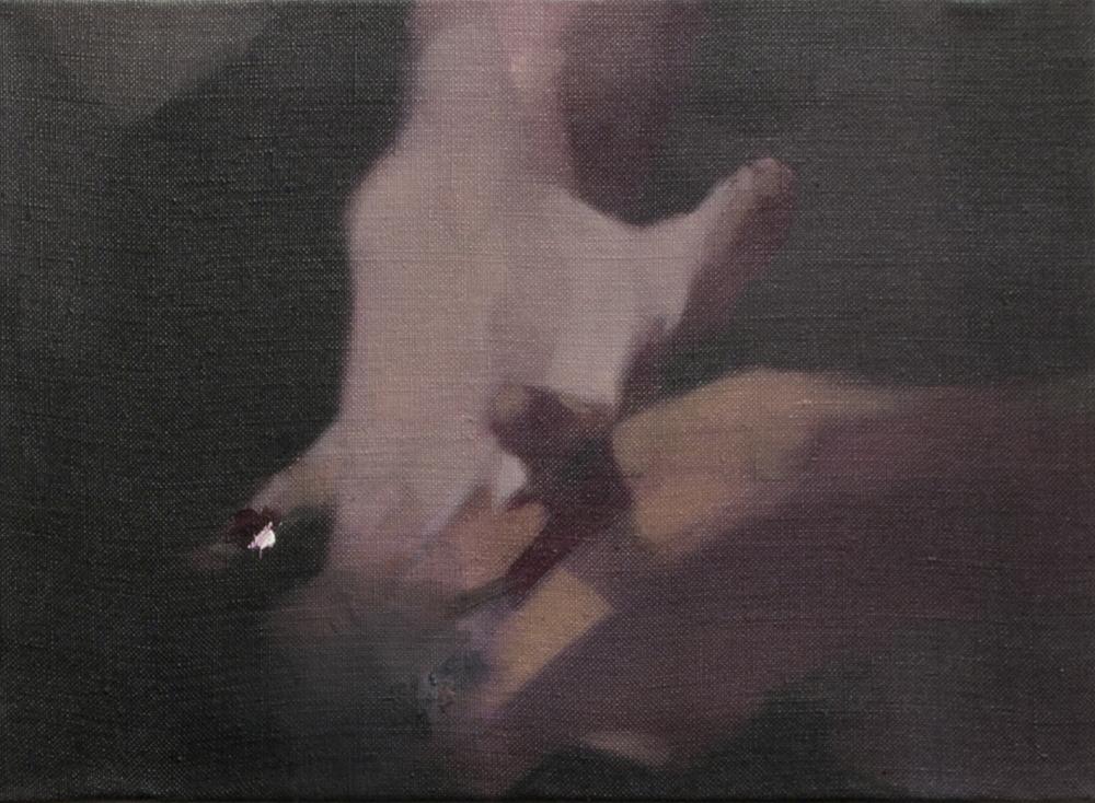 Nacho Martín-Silva Acto V, 2015 oil on linen, 24 x 33 cm