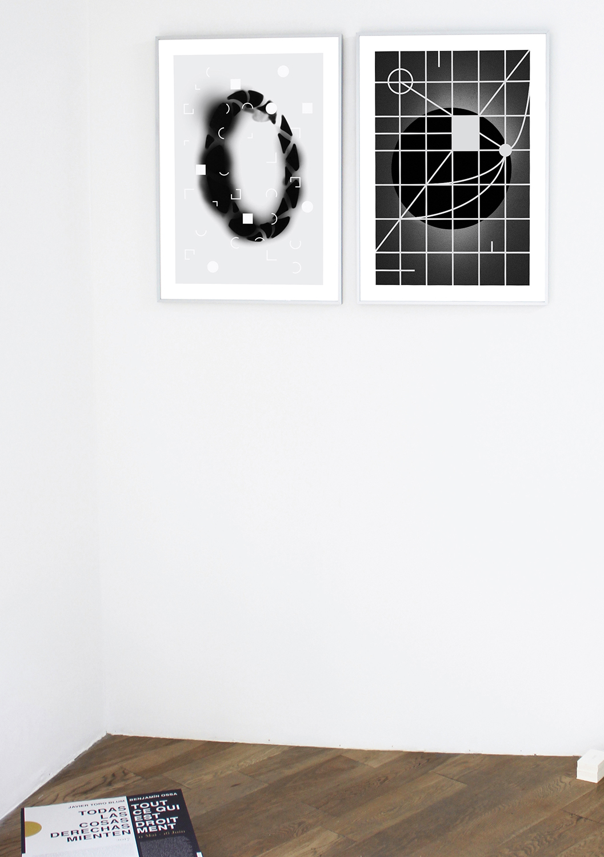 Benjamin OSSA / Javier Toro Blum, Benjamin Ossa, Correspondencias, 2017, serigraphy on photograph, 68 x 48 cm