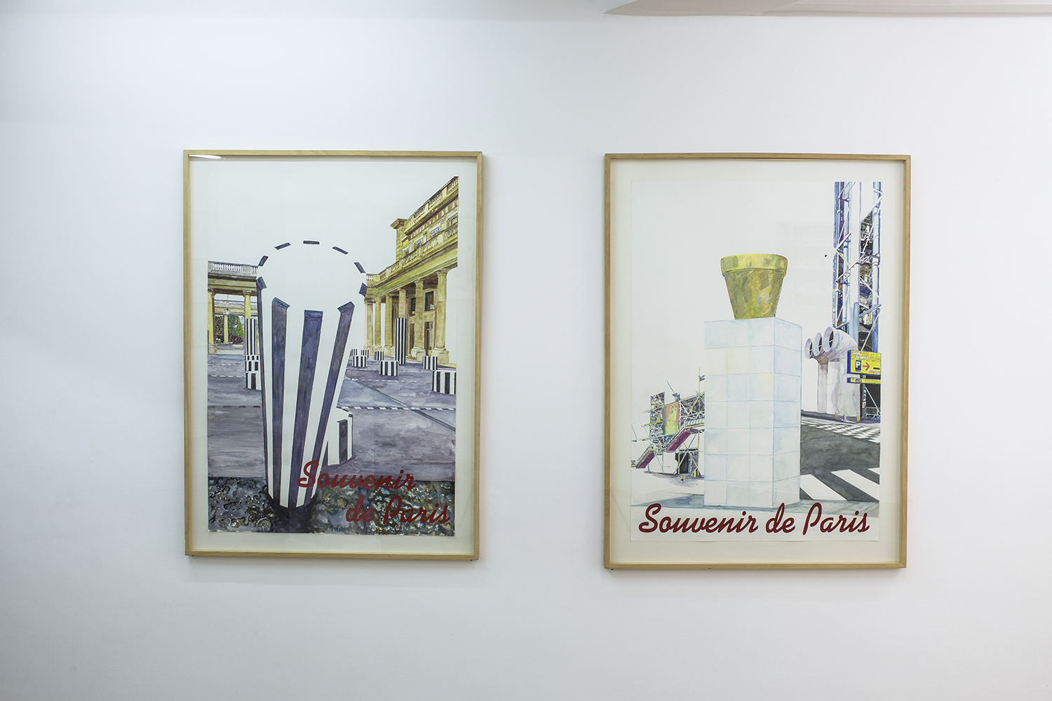 Pierre Petit Les icônes, 2002 Watercolors, collage, colored pencils, pastel 75 x 105 cm