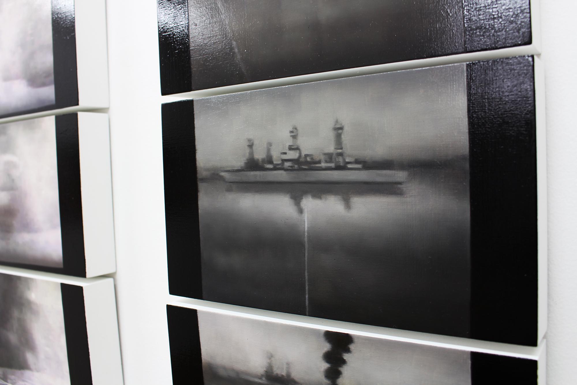 Ways of war, Oil on wood, 108 x 220 cm, details