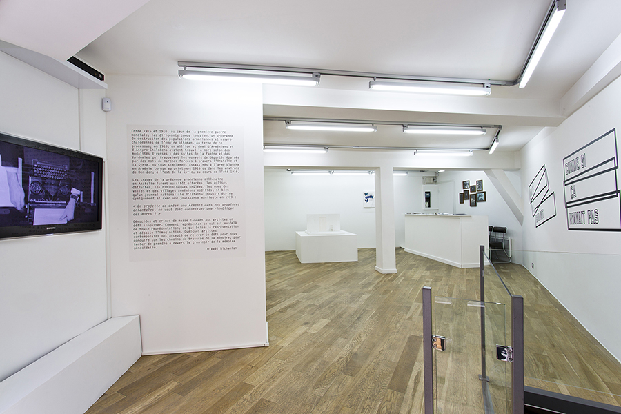 Je me souviens du génocide arménien…, exhibition view, April 2015