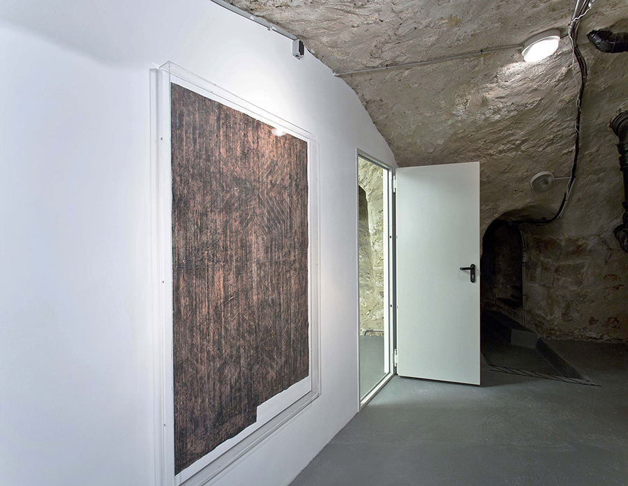 Alexandra Hopf The Stella Files #7, 2014 oil pastel, gouache on paper, 139 x 98 cm