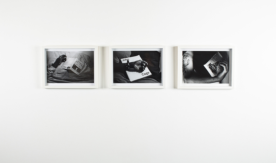 Caecilia Tripp Sleeping With Books A photographic work 3 works from selection / 2011-2014 C-Print, B & W, 30 x 42 cm, framed, Edition 5 + 2 AP