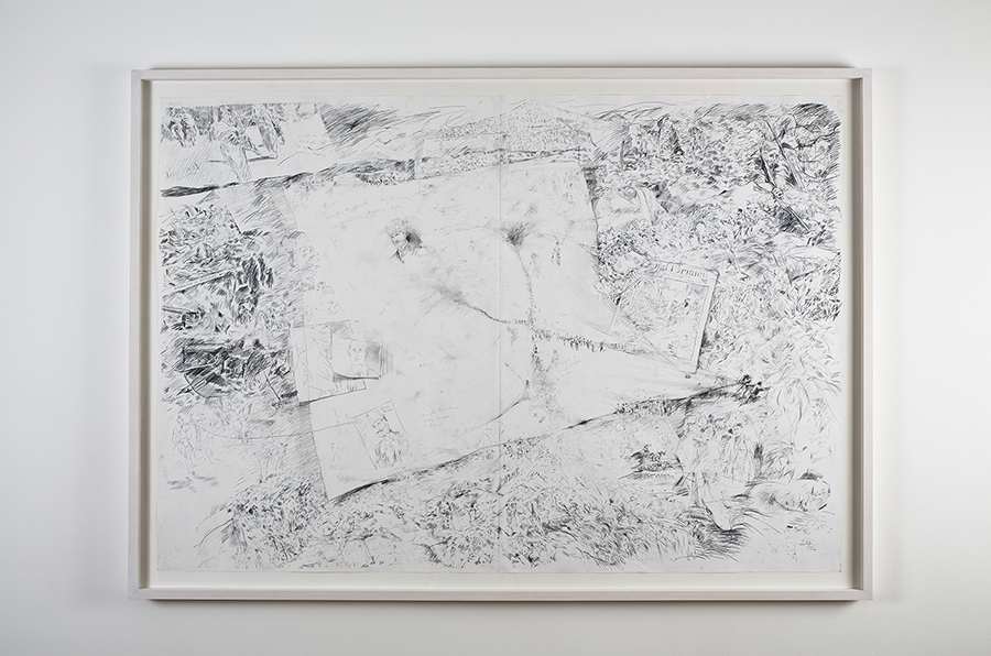Viet Bang Pham Purity, 2015 pencil, watercolor, charcoal on paper 100 x 140 cm / 2 x (100 x 70 cm)