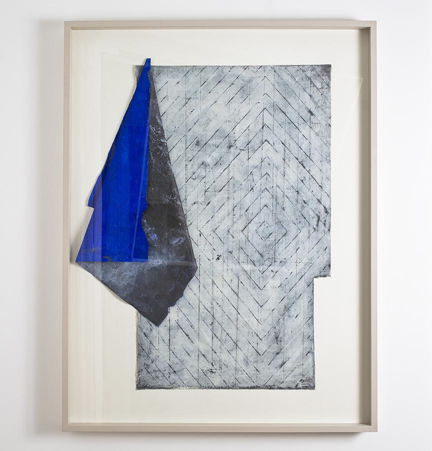 Alexandra Hopf Combined Piece #2 (Piece of Stella), 2015 oil pastel, gouache on cotton, 122 x 94 cm