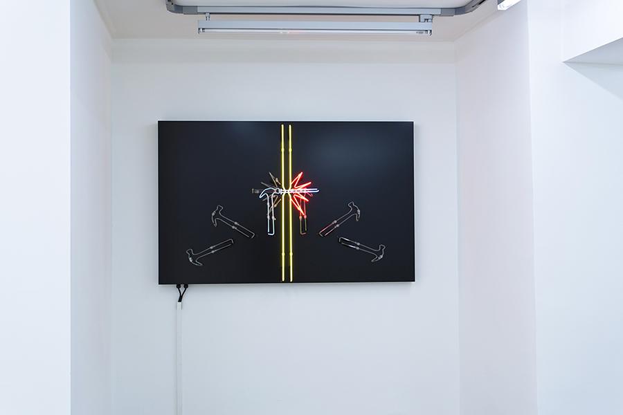 Esther Shalev-Gerz Potential Trust , 2012-2015 neon, 150 x 95 x 8 cm