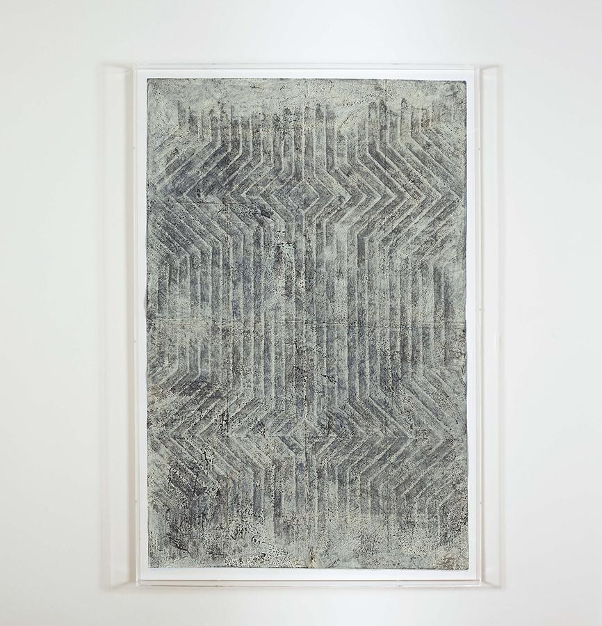 Alexandra Hopf The Stella Files #1, 2014 oil pastel, gouache on paper, 150 x 99 cm