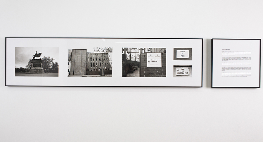 Daniela Ortiz and Xose Quiroga General Joan Prim i Prats (from the project Nation State. Part I), 2013 Glicée on Hahnemüle paper, 40 x 160 cm + printed text 40 x 40 cm