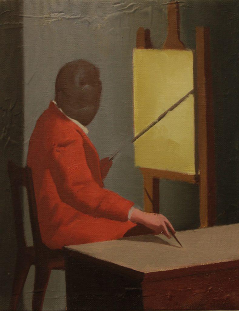 THE PAINTER, 19x24cm, oil on canvas