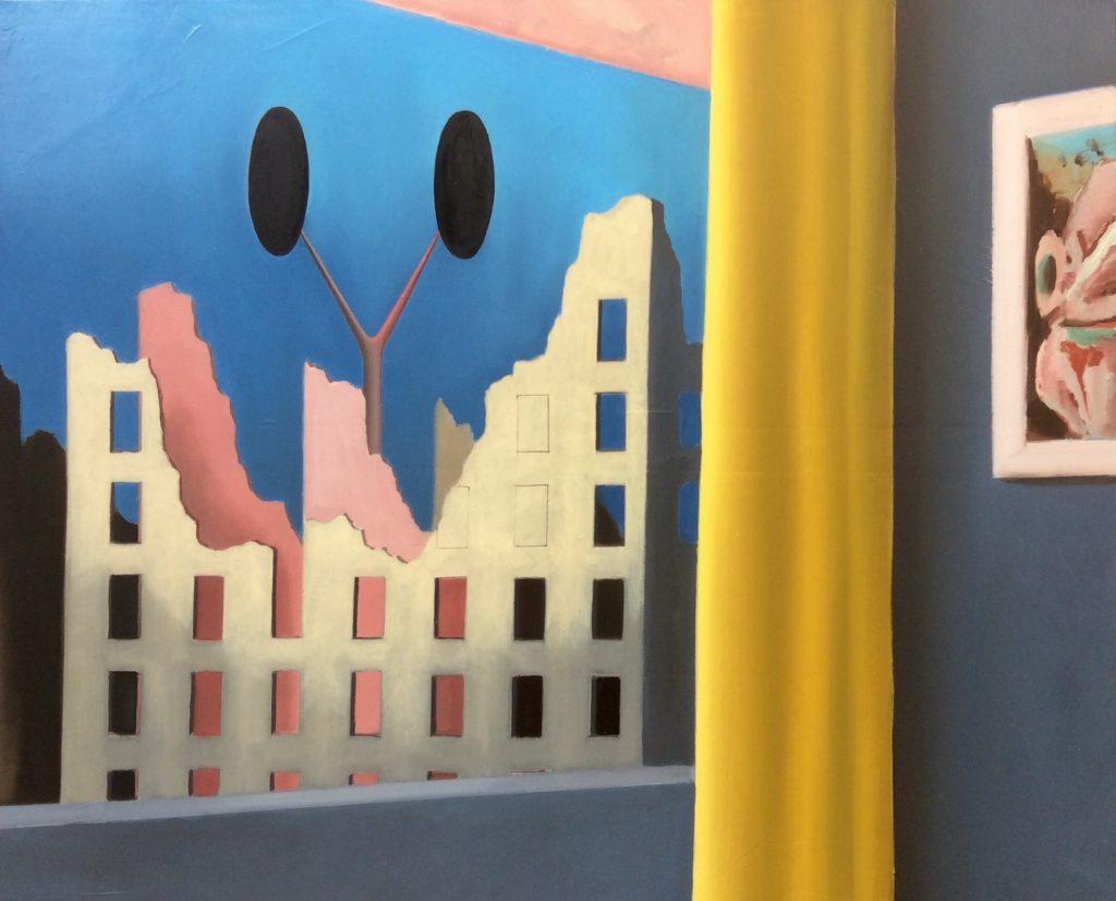 THE WINDOW, 100x81cm oil on canvas, 2019