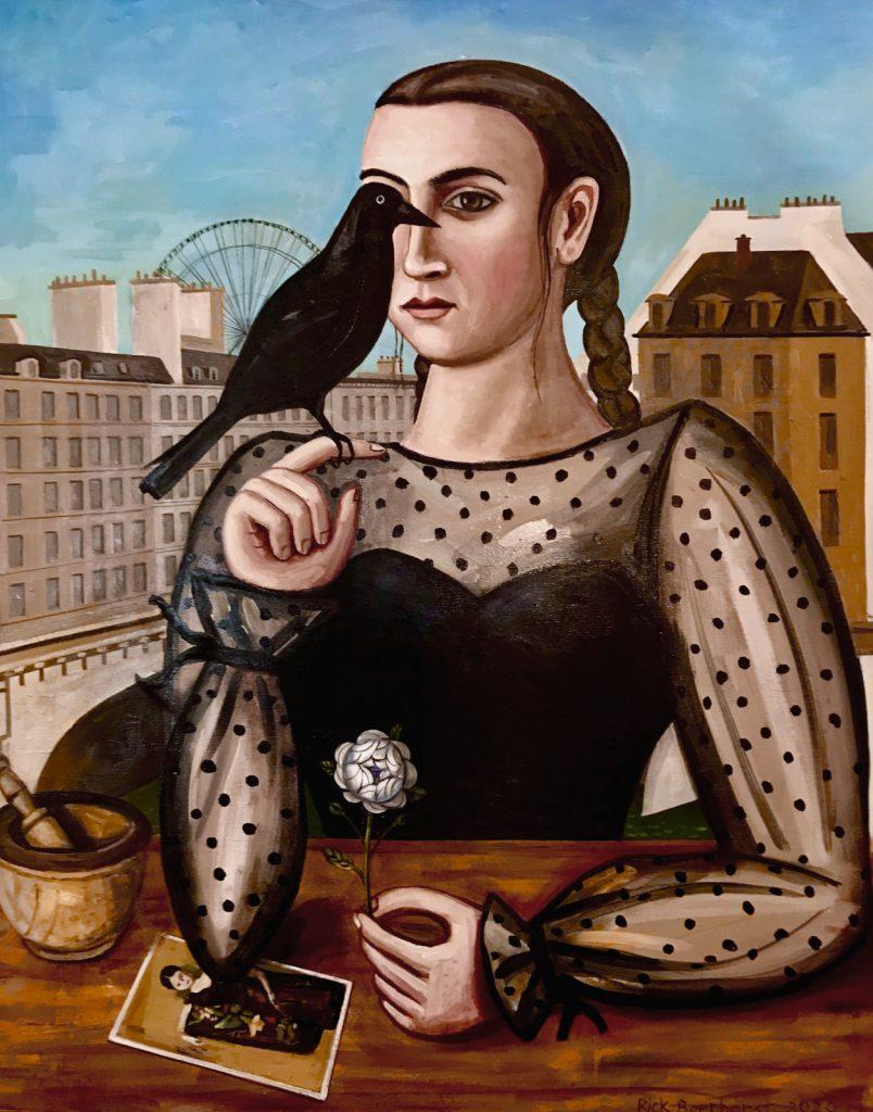 Harbinger of Change, 2020, oil on canvas, 100x80 cm