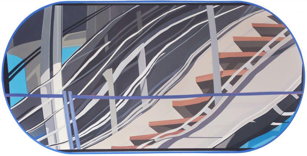 Etienne Gayard, sans titre, 2021, peinture acrylique, 82x168 cm