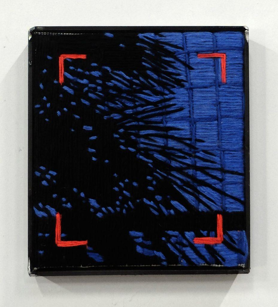 Valentine Esteve, Modern Archive 1, 2021, broderie acier,22x20cm