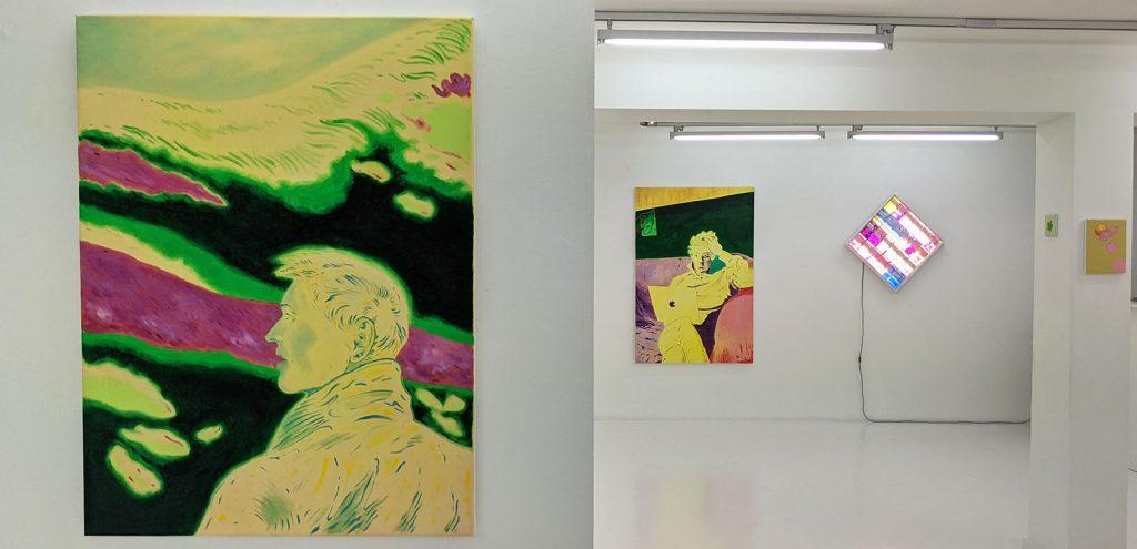 vue exposition oeuvres xarli et anine