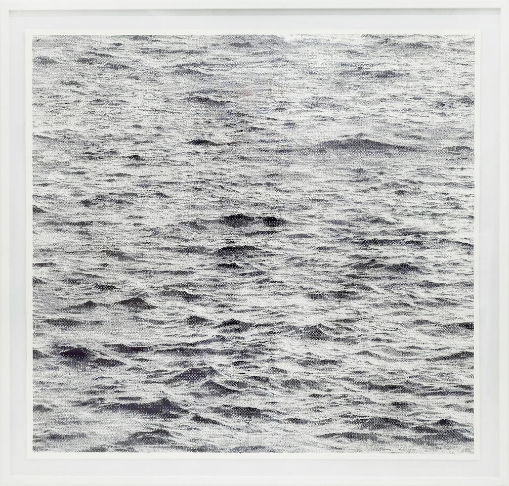 Thomas Andrea Barbey, Mer, 2019, encre de Chine, 114 x 114 cm
