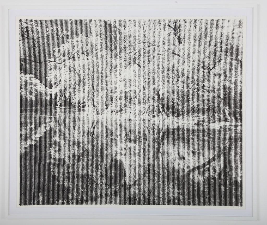 "Thomas Andrea Barbey, ""Lago del Esperjo II"", 2020, Gouache sur Papier, 122 x 143 cm."