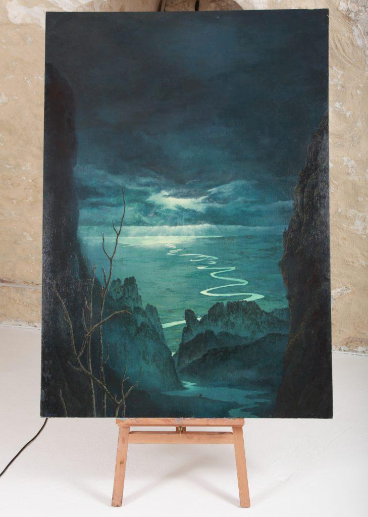 "Alfonso Galván, ""Miserio De Los misterios"", 2013, Huile Sur Lin, 162 x 174 cm."