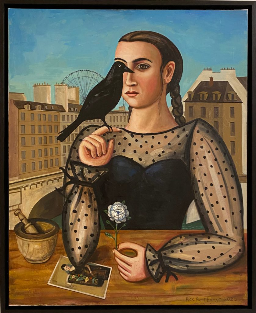 Harbinger of Change, 2020, oil on canvas, 100×80 cm