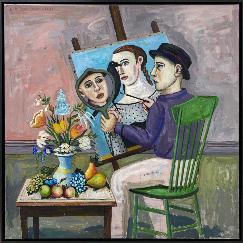Painting My Feminine Nature, 2020, oil on canvas, 162×162 cm