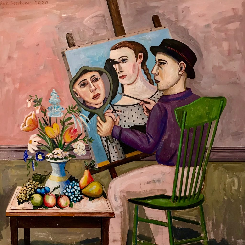 Painting My Feminine Nature, 2020, oil on canvas, 162x162 cm