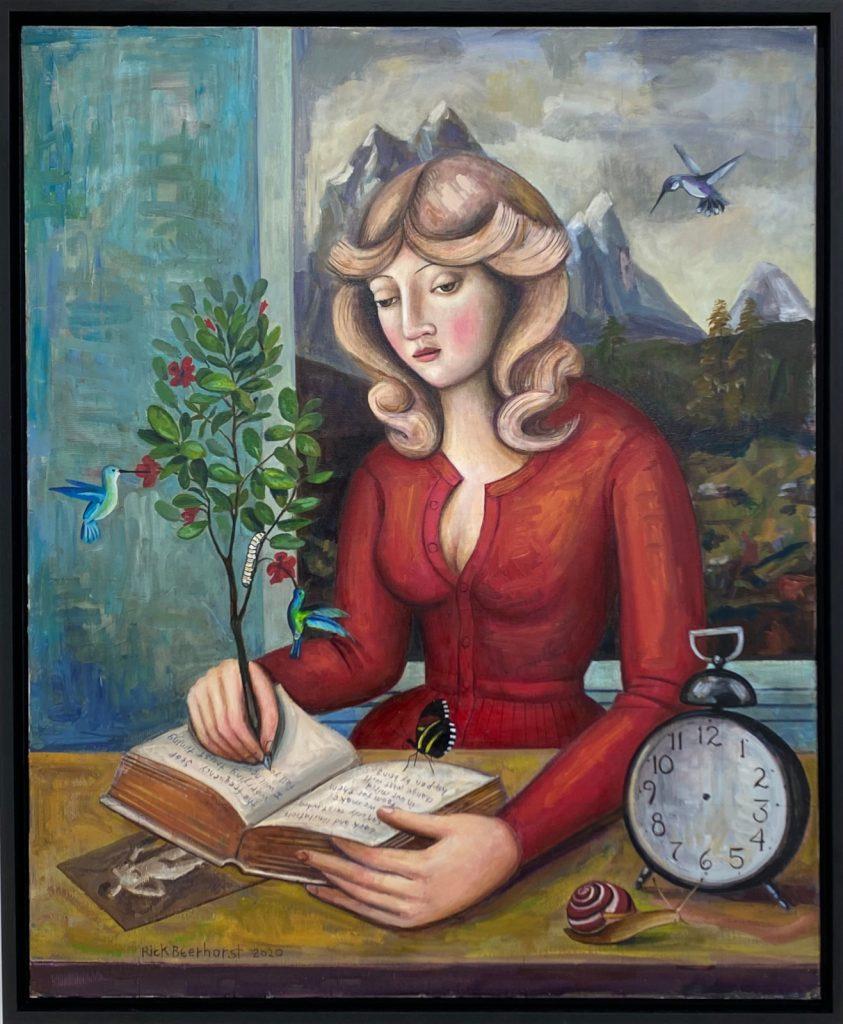The Mystic Author, 2020, oil on canvas, 100×80 cm