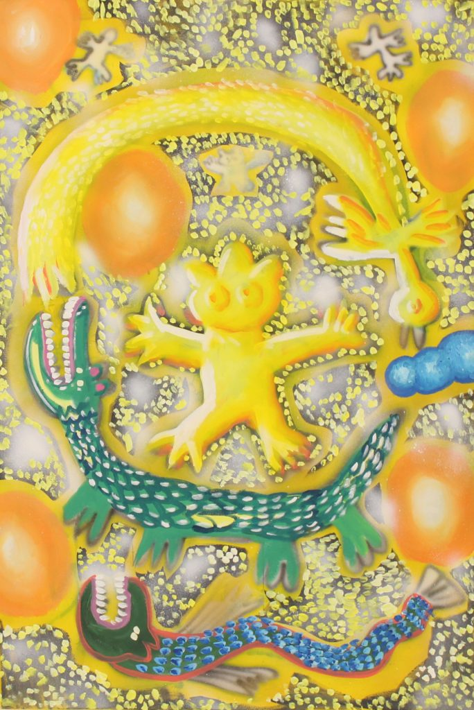 Yelow World, 2020, acrylic on canvas, 80 x 120 cm