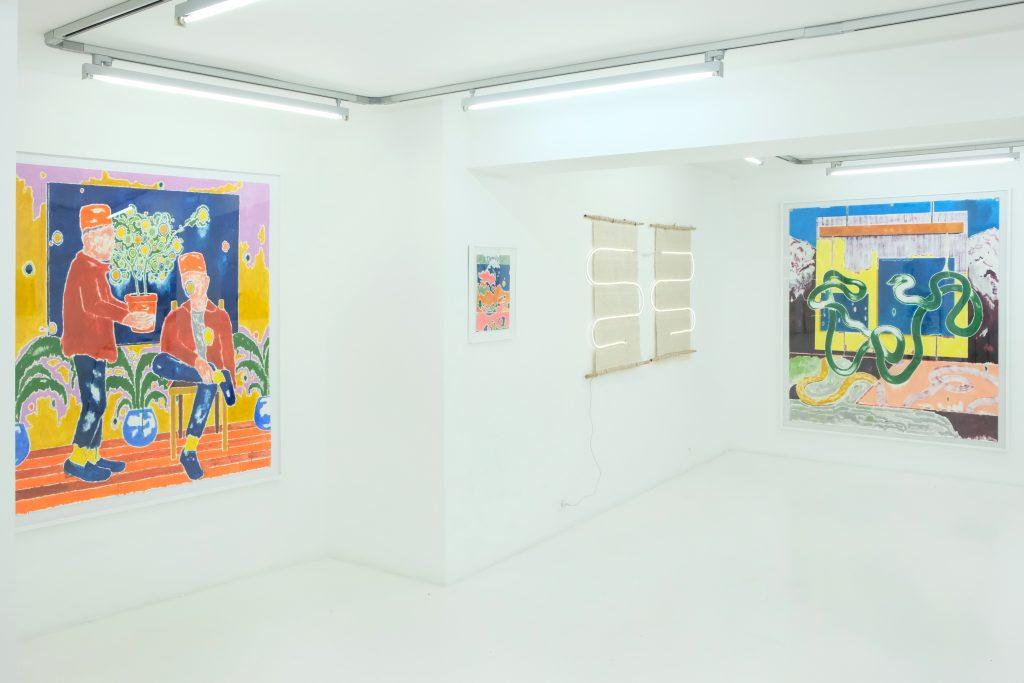Vue d'exposition Kenia Almaraz Murillo x José Cori