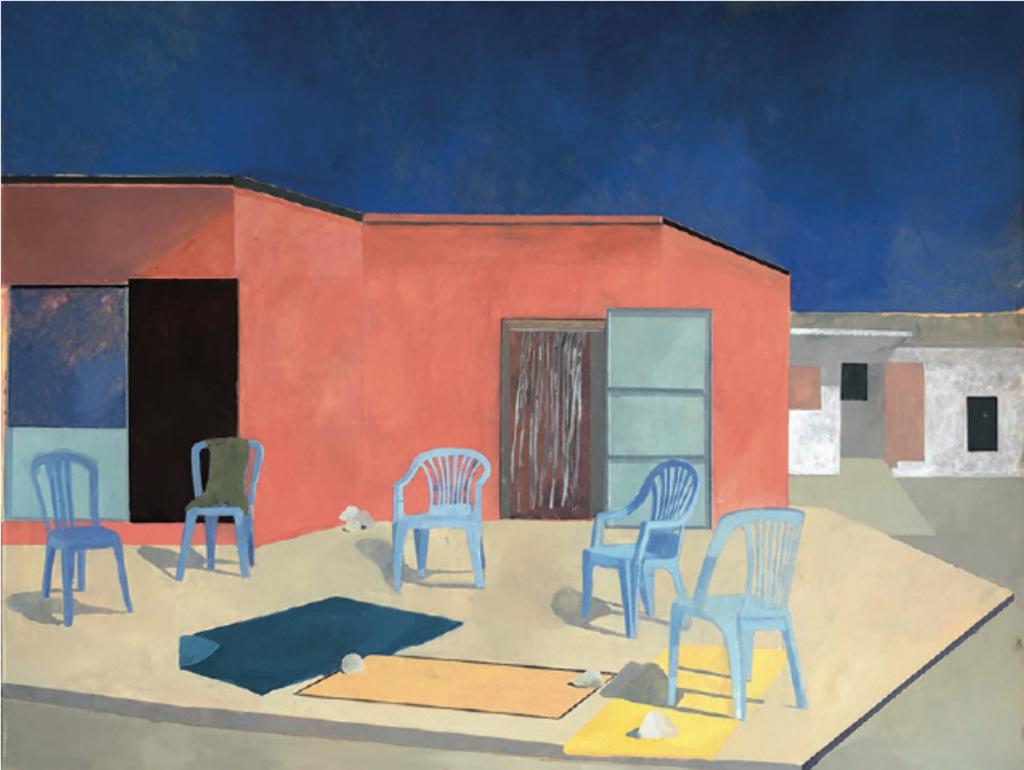 Sarah Maison, Grand Bain, 146x114cm, 2019, huile sur toile