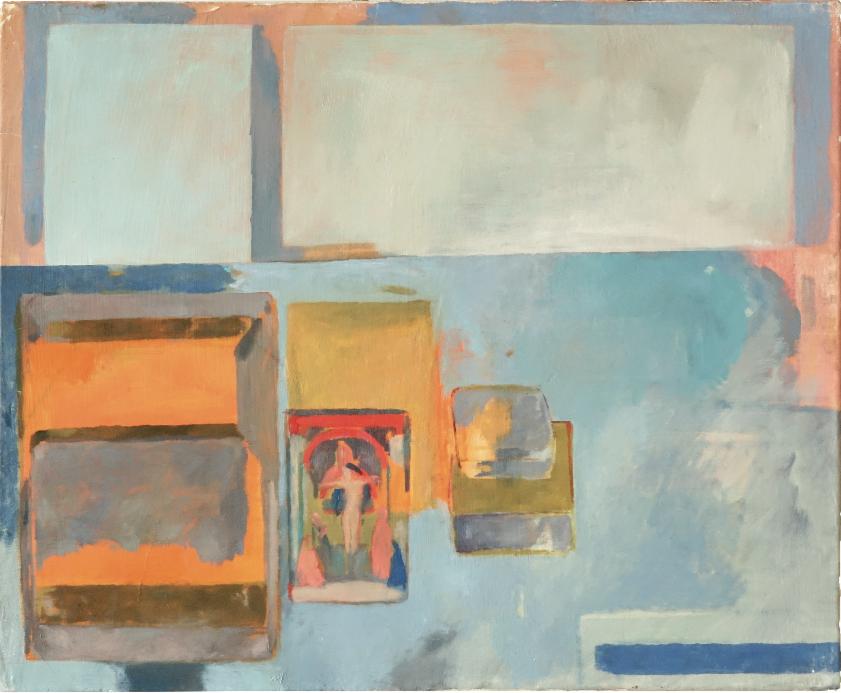 Sarah Maison, Masaccio, 50x40cm, 2020, huile sur toile