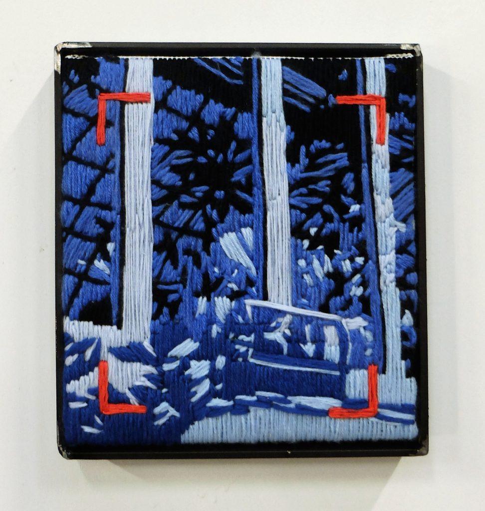 Valentine Esteve, Modern Archive 3, 2021, broderie acier,22x20cm